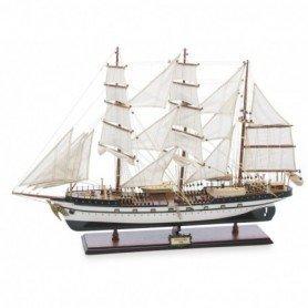 Maqueta náutica artesanal del buque escuela alemán Gorch Fock