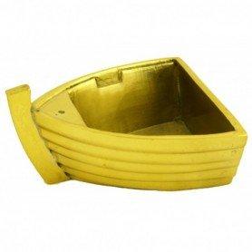 Cenicero náutico medio casco de barco en latón de fundición