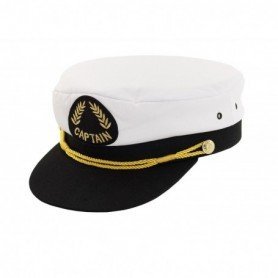 Gorra náutica de capitán con escudo