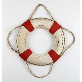 Salvavidas de madera de artesanía náutica