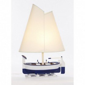 Lámpara náutica de barca de pesca con pantalla