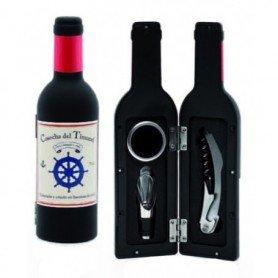 Estuche náutico botella con accesorios para el vino