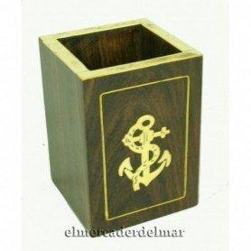 Lapicero náutico de escritorio en madera