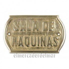 Placa náutica de bronce macizo Sala de Maquinas
