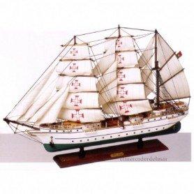 Maqueta de barco buque escuela portugués Sagres