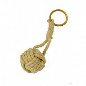 Llavero defensa cabeza de turco con anilla