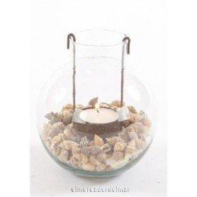 Porta velas náutico de cristal