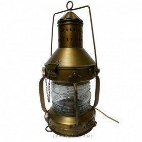 Lámpara farol náutico de fondeo en metal