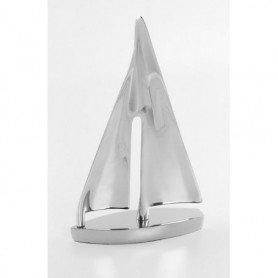 velero metal cromado decoración náutica