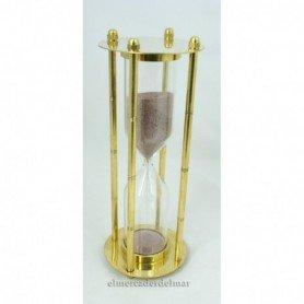 Reloj de arena náutico en latón