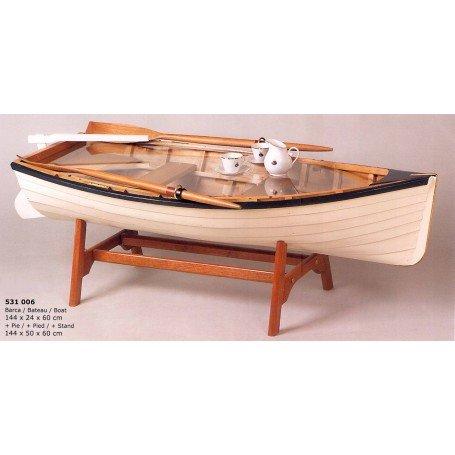 Mesa bote de pesca como mueble náutico auxiliar