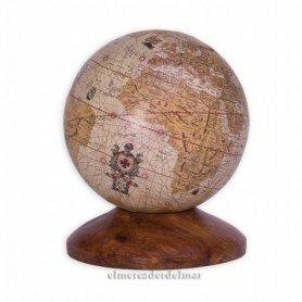 Globo terrestre mapamundi con peana