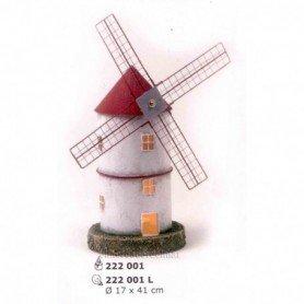 molino de viento en hojalata