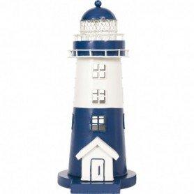 Faro náutico costero realizado en hojalata