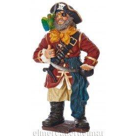 Figura marinera de pirata con loro