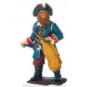 Figura náutica de pirata de barba trenzada