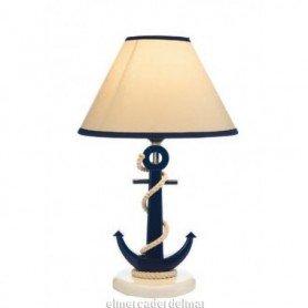 Lámpara marinera con pie de ancla