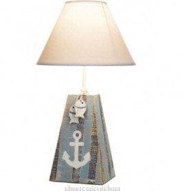 Lámpara náutica con ancla y peces