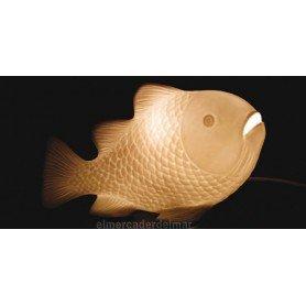 Lámpara marina de porcelana en forma de pez