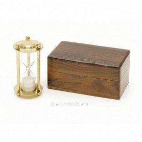 Reloj de arena náutico con caja