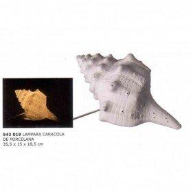 Lámpara caracola de mar en porcelana