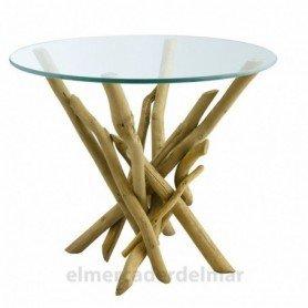 Mesa madera reflotada