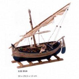 Maqueta naval velero Llaud de vela latina