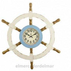Reloj náutico rueda de timón