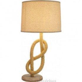 Lámpara de sobremesa marinera cabo náutico