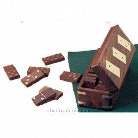 Caja con juego domino en madera