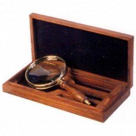 Lupa náutica con caja madera