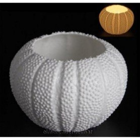 Porta velas marino erizo de mar en porcelana