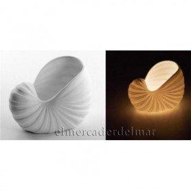 Portavelas náutico caracola del mar de porcelana
