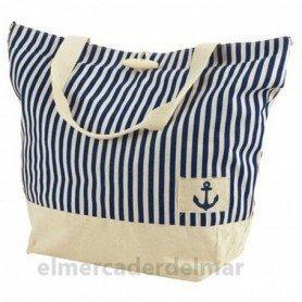 Bolsa marinera de rayas con ancla