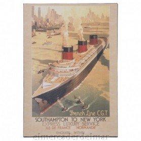 Placa marinera de transatlantico