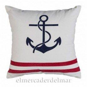 Cojín marinero con ancla