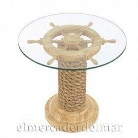 Mesa náutica  timón redonda
