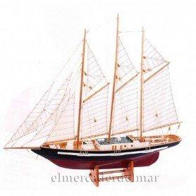 Maqueta de velero de tres mástiles
