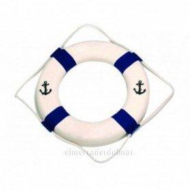 Salvavidas náutico azul bienvenidos a bordo