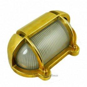 Aplique lámpara náutico ovalado con visera