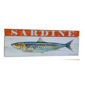Cuadro de madera Sardina