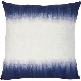 Cojín azul índigo y blanco Mercader del mar