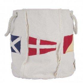 Revistero marinero con banderas del código de navegación