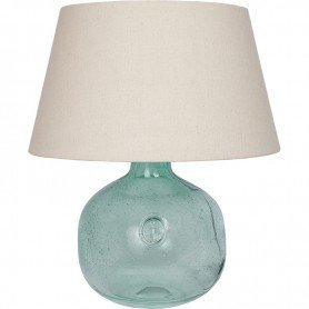Lámpara azul estilo marinero con ancla grabada DecoracionMar