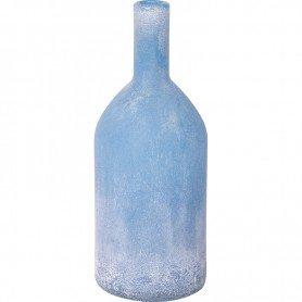 Botella esmerilada azul de estilo vintage marinero Decoracionmar