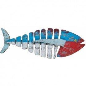 Mural de madera marinero pez tricolor