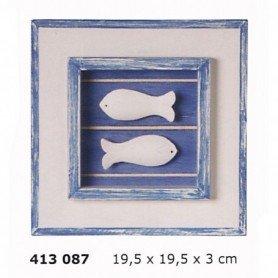 Cuadro decoración marina dos peces