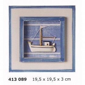 Cuadro decoración marinera con pesquero