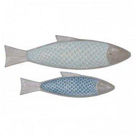 """Juego decorativo de bandejas marineras """"pescado azul"""" Mercader del mar"""