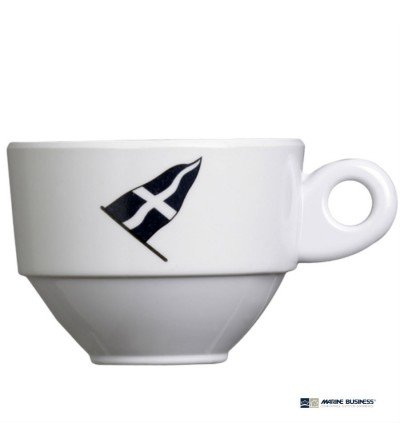 Tazas de café expreso antideslizantes Regata Decoracion Mar